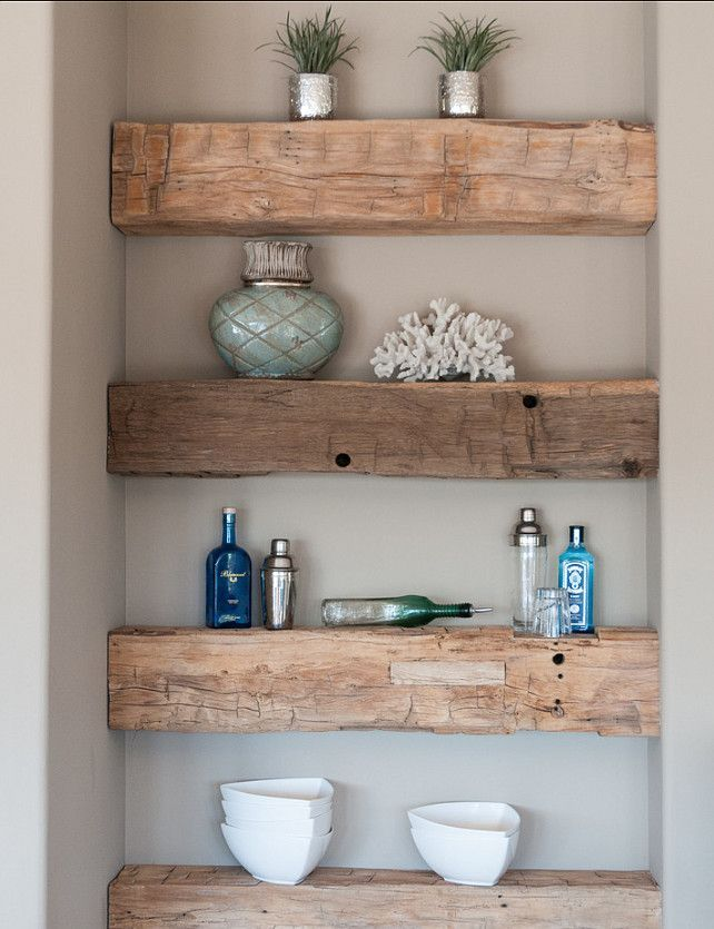 wood beam shelves