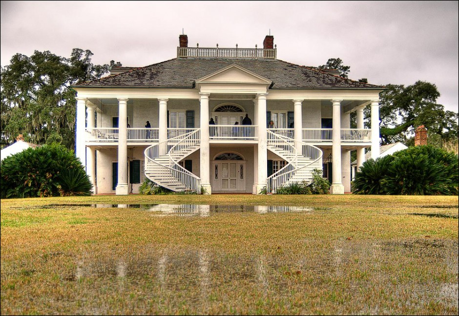 Plantation House with Shutters