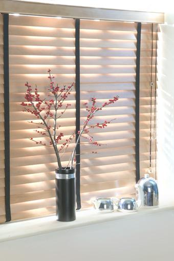 wooden blinds, flower
